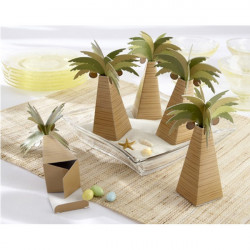 Artificial Coconut Tree Paper Candy Box Wedding Gift Accessories