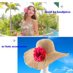 Kunstig Silk Peony Blomst Bryllupsfest Beach Dekoration Hår Klippet