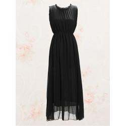 Backless hohe Taillen Chiffon  Kleid