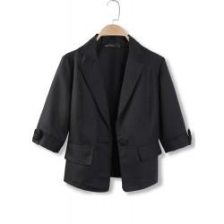 Black & Hvid Half Sleeve Single Breasted Blazers