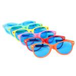 Blau Objektive Große Glasrahmen Wacky Brille Damenbekleidung