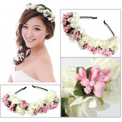 Boho Floral Flower Headband Garland Hair Head Band Wedding Hoop