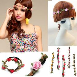 Boho Garland Weave Kränze Hochzeit Strand Blumen elastisches Hairband