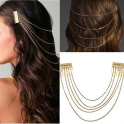 Boho Golden Hair Ketten Kopfschmuck Haarschmuck Stirnband