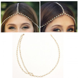 Boho Tassel Metal Jewelry Head Chain Headband Head Piece Beads