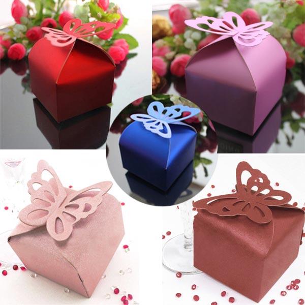 Boxen Luxus Schimmer Schmetterlings Hochzeits Geschenk süße reizende Dekoration Damenbekleidung