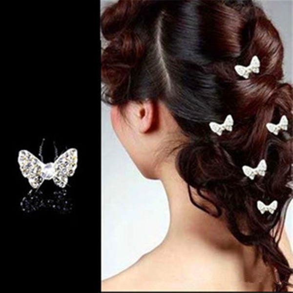 Bridal Hair Accessories U-clip Butterfly Hairpin Headdress Headpieces Women's Clothing