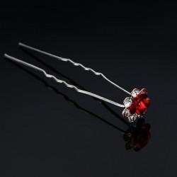 Bröllopsstycken U-klipp Rhinestone Blomma Hårnål