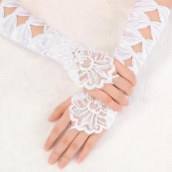 Brud Bröllop Ceremoniella Föreställningar Tillbehör Motif Handskar