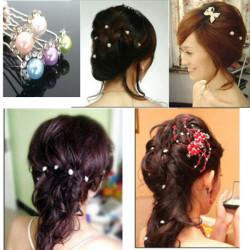 Brauthochzeits Haar Kopfschmuck Schmucksache Perlen Haarnadel