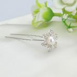 Brud Bröllop Hårnål Rhinestone Blomster U-clip Huvudbonad Damkläder