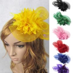 Brauthochzeits Kuchen und kleine Blumen Feder Kopfschmuck Hut Klipp Haar Band