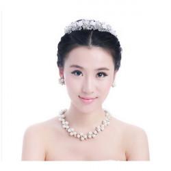 Brude Woman Hair Bands Headpieces Bryllup Crystal Pearl Tiara