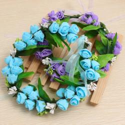 Brude Wreath Bracelet Lille Rose Wreath Bride Blomst Hovedklæde