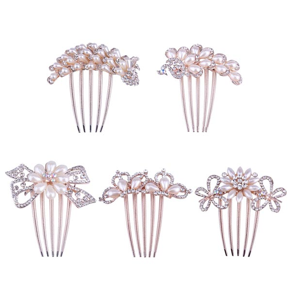 Bride hairpin Bowknot Peacock Insert Five Comb Phoenix Hair Accessory Women's Clothing