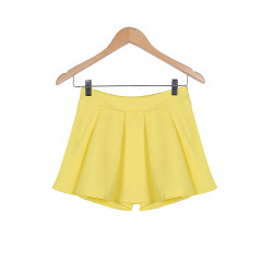 Candy Colored Chiffon Casual Byxor Culottes