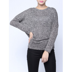 Casual Batwing Sleeve Knitted Pullover Sweater