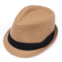 Lässige Diamant Muster Warm Jazz Hut Cow Boy Cap