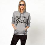 Beiläufige Art und Weise Frauen Winter Brief drucken Pullover Hoodie Damenbekleidung