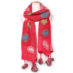 Casual Retro Colorful Double Face Knit Scarve Shawl