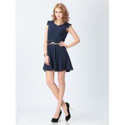 Casual Short-sleeved Chiffon Dress