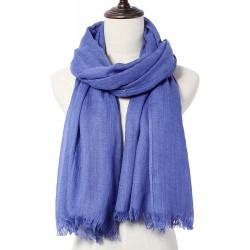 Casual Solid Color Tassel Hem Thin Soft Knit Scarf