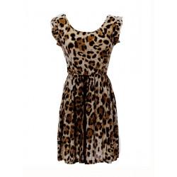 Causal Sexy Lady Leopard Slim Sleeveless Dress