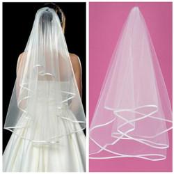 Charm Vit Ivory 2 Tier Mantilla Bröllop Brud Bride Veil