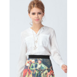 Chiffon Transparent Blouse Loose Shirt