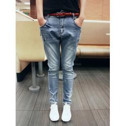 Kühle Bequeme Gesäßtasche Soft Slim Hallen Jeans