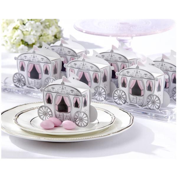 Gullig Enchanted Transport Förmån Lådor Bröllopsfest Candy Box Damkläder