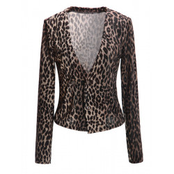 ® Double Breasted Leopard Blazer