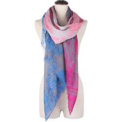 Elegant Ultra Long Mix Color Gradient Cotton Blend Scarf Shawls