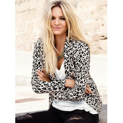 Elegant leopard Printed suit Long Sleeve Blazer