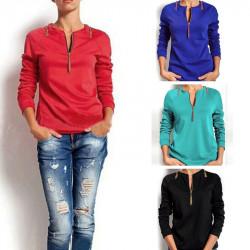 Fashion Candy Plus Size Long Sleeve Tassel Blouse Sweatshirt