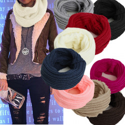 Fashion Casual Candy Color Wool Scarf Shawl Wrap Neck Warmer