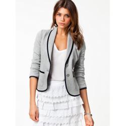 Mode Casual Långärmad Kort Slim Polo Polyester OL Suit Blazer