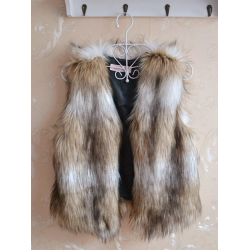Fashion Casual Sleeveless Soft Faux Fur Jacket Coat