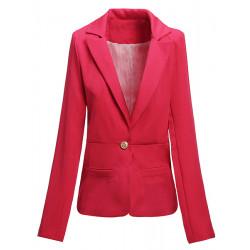 Mode Casual Slim Ladies Bälte Stripe Foder Suit