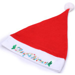 Fashion Casual Unisex Letter Print Red Christmas hat Women's Clothing