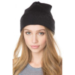 Fashion Casual Unisex Solid Color Soft Plain Ski Knit Beanie Hat Women's Clothing