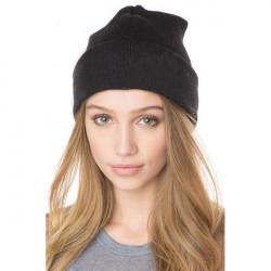 Mode Casual Unisex Solid Color Soft Plain Ski Knit Beanie Hat