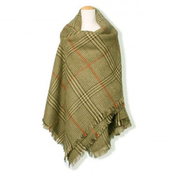 Mode Casual Kvinna Värmande Pläd Soft Wrap Halsduk