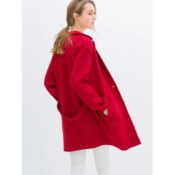 Fashion Loose Long Sleeve One Button Lapel Coat Blazer