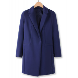 Fashion Solid Color One-button Long Sleeve Blazer Suit