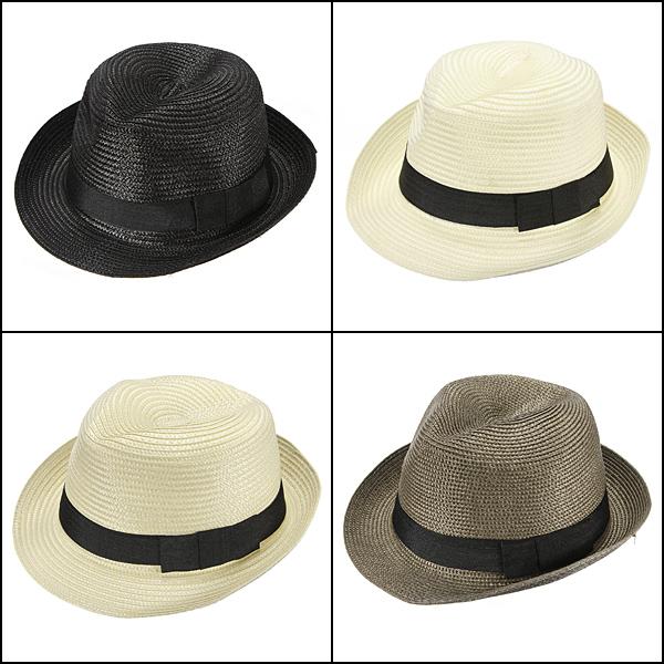 Fashion Unisex Fedora Trilby Cap Summer Beach Adumbral Straw Hat Women's Clothing