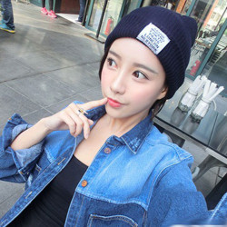 Mode Unisex- Ull HipHop Lock Knitted Beanies Hatten