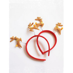 Female And Male Cute Decoration Double Deerlet Hair Band