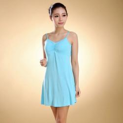 Weiblich Modal Trägern Pad Cup Vest Sleepwear Kleid