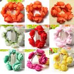 Flower Bun Garland Floral Head Knot Hair Band Elastic Bridal Women's Clothing